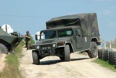 Un camion militaire Photographie stock