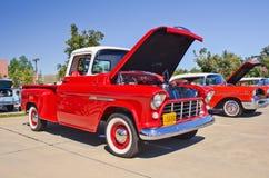 Un camioncino scoperto 1955 della Chevrolet Fotografia Stock