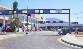 Un camp de réfugié migrateur à Athènes, Grèce Images stock