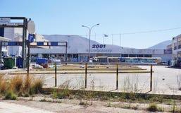 Un camp de réfugié migrateur à Athènes, Grèce Photographie stock libre de droits