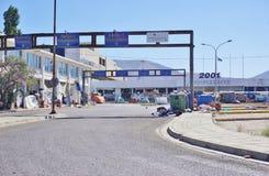 Un camp de réfugié migrateur à Athènes, Grèce Photos stock