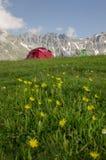 Un campeggio alle montagne di Kaçkar Fotografia Stock
