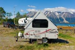 Un campeggio rustico in nordico bc Immagini Stock Libere da Diritti