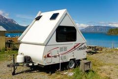 Un campeggio rustico in nordico bc Fotografia Stock Libera da Diritti
