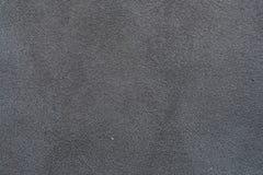 Un campione del panno di cuoio nero per cucire Immagini Stock