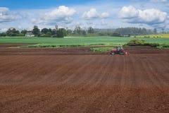 Un campo arato. Fotografia Stock