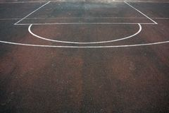 Un campo de fútbol y una marca imagen de archivo libre de regalías