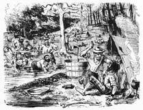 Un campo del oro en los Diggings ilustración del vector