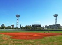Un campo di baseball fotografia stock