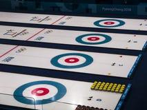 Un campo per l'arricciatura ai giochi olimpici Fotografia Stock Libera da Diritti