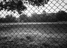 Un campo vuoto Fotografie Stock Libere da Diritti