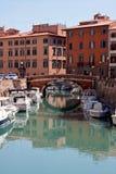 Un canal de Livorno Foto de archivo libre de regalías