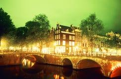 Un canale a Amsterdam Fotografia Stock Libera da Diritti