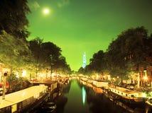 Un canale a Amsterdam Immagine Stock
