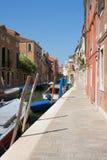 Un canale calmo di Venezia Fotografia Stock