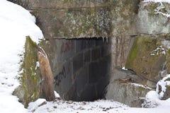 Un canale sotterraneo di pietra Immagine Stock Libera da Diritti