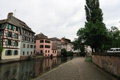Un canale a Strasburgo, Francia immagini stock libere da diritti