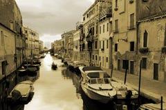 Un canale veneziano Fotografia Stock Libera da Diritti