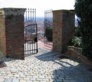 Un cancello aperto Fotografia Stock
