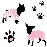 Un cane alla moda illustrazione vettoriale