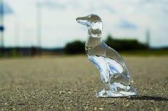Un cane di cristallo Fotografie Stock