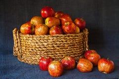 Un canestro dell'erba delle mele rosse 2 di Starking fotografia stock