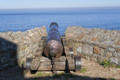 Un cannone antico immagini stock
