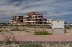 Un cantiere abbandonato in Spagna Immagini Stock Libere da Diritti