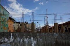 Un cantiere a Leon Fotografie Stock Libere da Diritti