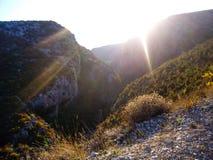 Un canyon profondo immagine stock