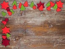 Un capítulo de la Navidad adornado con las decoraciones del pannolenci Foto de archivo libre de regalías