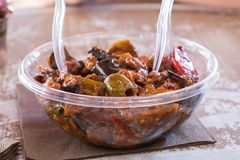 Un caponata de streetfood images stock