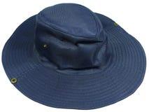 Un cappello blu isolato del sole Fotografia Stock