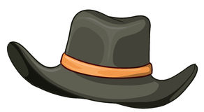 Un cappello grigio Fotografie Stock Libere da Diritti
