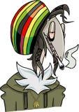 Un carácter que fuma y por lo tanto parece malo ilustración del vector