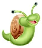 Un caracol verde feliz Fotos de archivo