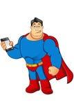Un caractère de super héros de bande dessinée Photos stock