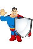Un caractère de super héros de bande dessinée Images stock