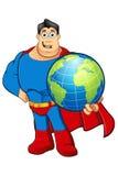 Un caractère de super héros de bande dessinée Image libre de droits