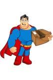 Un caractère de super héros de bande dessinée Photographie stock libre de droits