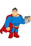 Un caractère de super héros de bande dessinée Images libres de droits