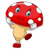 Un caractère mignon de champignons de bande dessinée illustration de vecteur