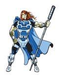 Un carattere cosmico alimentato eccellente dell'eroe del libro di fumetti royalty illustrazione gratis