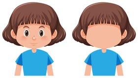 Un carattere della ragazza dei capelli del peso illustrazione vettoriale
