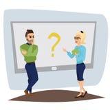 Un carattere di due vettori nel dialogo Immagine Stock
