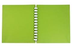 Un carnet de notes à spirale. Images stock