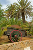 Un carrello di legno delle due rotelle Fotografia Stock