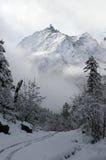 Un carril en la nieve Imagen de archivo libre de regalías