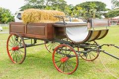 Un carro marrón del caballo Imagen de archivo