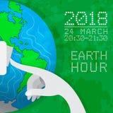Un cartel de la hora de la tierra stock de ilustración
